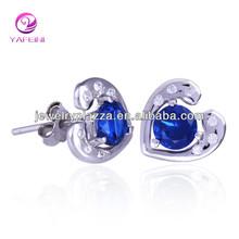 AA000138 2015 Popular Silver Heart shaped dangle Earring