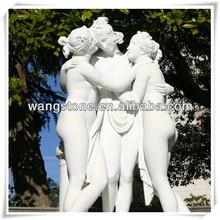 Modern white marble stone elegant figure sculpture