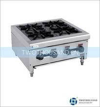 Commercial Kitchen Gas Stoves - 4 Burners, 2800 Pa, LPG, 48 Mj/hr, 38 Kg, TT-WE1215