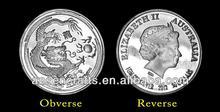 1 Gram Australia Chinese Lunar Dragon Silver Coin