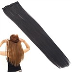 Free shipping,20-inch Clip-on Design Long Straight Wig Fiber Hair Extension Hairpiece