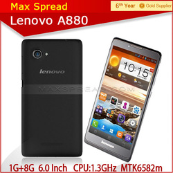 Top Brand Lenovo A880 Quad core Smartphone Android 4.2 OS 6.0 inch IPS Screen china android smartphone