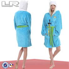 women super soft fleece animal hood bathrobe