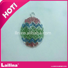 Colorful Crystal Rhinestone Easter Egg Pendant & Charm for necklace