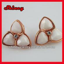 2014 healty alloy rose gold resin earring