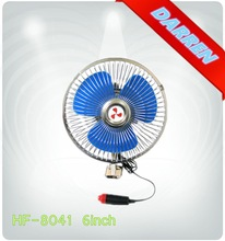 6inch 12v CE Car Cooling Fan Full Safety Metal Guard Portable Fan for Car