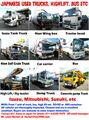 Japonés hecho camiones, los autobuses, los transportistas, cabezas tractoras