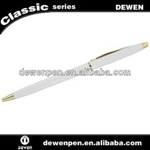 Cheap white ballpoint pen,Logo pen white for promotion