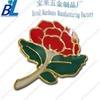 Beautiful metal rose shape flower lapel pin emblems with enamel