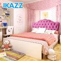 Belo royal princess kids girls pink macia cama com roupeiro& mesa