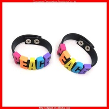 Special DIY adjustable silicone wristband for PEACH/LOVE/SWEET (MYD-1601)