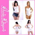 Großhandel sexy frauen weißen latex-korsett-kleid