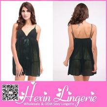 Wholesale black lingerie plus size sex girls sexy babydoll