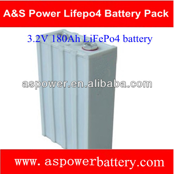 rechargeable 3.2V 180ah lifepo4 battery for EV and storage