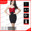 Army quality strapless red and black bandage alibaba prom dresses in France design 2014