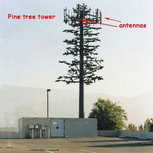 telecom pine tree tower base station