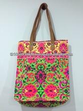 Best selling Thailand Neon Canvas Handmade bag NB17