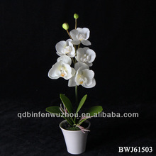 Artificial phalaenopsis orchids potted flowers for home decoration factory directe selling