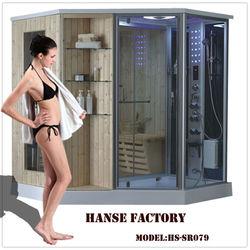 HS-SR079 fashion diamond shower cabin sauna and steam combined room