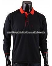 Mens Long Sleeve Polo Shirt / casual polo shirt / dress shirt