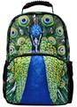hermoso pavo real lindo niños todos los días los animales del zoológico mochila con la imagen de los animales