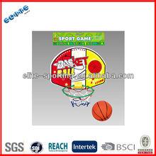 Wall mounted plastic toy basketball backboard and hoop toy