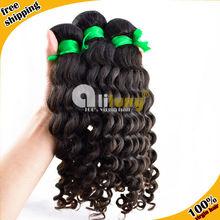 Cheap grade 6a deep wave brazilian virgin hair darling hair wholesale hair extension
