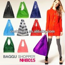 2014 folding polyester bag & shoping bag & folding polyester bag