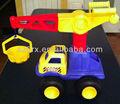 enorme tonka camion con gru secchio giocattolo di plastica