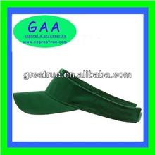 Wholesale adult 100% cotton sun visor cap with short peak
