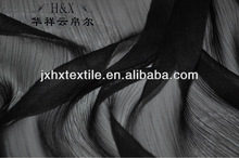 Chiffon Fabric with black color for kerchief fabric