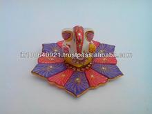 Belle religieuseprix ladoo dieu hindou ganesha statue sur une plate plaque de marbre, design quatrième alimp057