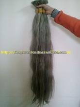 Gray virgin hair bulk 100% human braid grey hair long raw hair bulk