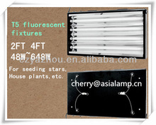 plant light 300 watt hydroponics t5 plant Light fixture 4bulb