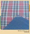 50 s doble capa de tela de algodón de hilo teñido comprueba camisa de tela