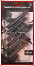 compressed charcoal of sketch set