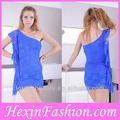 venta al por mayor estilo especial azul de las mujeres ocasional de una pieza de vestir