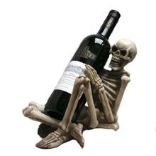 2014 New Design Skull Figurine Antique Wine Holder
