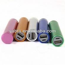 portable ALLOY lipstick power bank, mini power bank, 2600mah powe bank