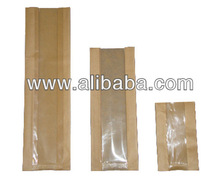 Paper bags for food/bread. Plain, window/windowed or waterproof laminated/coated chicken bags