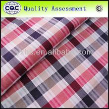 100% cotton yarn dyed fashion shirting fabric