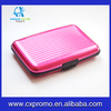 Aluminum stripped metal wallet -one size in pink