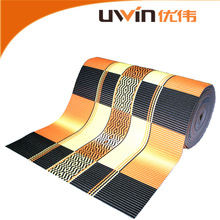 printed eco friendly non slip pvc plastic carpet roll decor adult floor mat