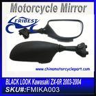 For KAWASAKI ZX6R ZX 6R NINJA 636 2003 2004 Motorcycle Mirrors Black FMIKA002