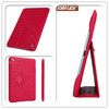 milled leather embroidered style for iPad mini genuine case