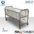 La roya x05-2 hospital bebé de acero inoxidable moisés, cama cuna swing