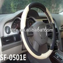 2014 car fashion design beige PVC cool truck steering wheel knob for truck/bus