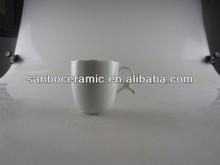 white porcelain mug special handle