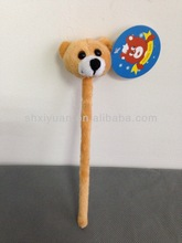Novelty animal shaped soft plush pen