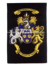 Bullion Embroidered Family Crest badge   Blazer Badge Family Crests